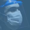 Profissional Meister Safe protegido com máscara contra Covid-19